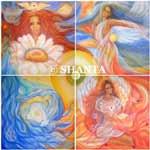 """Shanta (Justine Felix): """"Neue Erde – Fülle"""", Mischtechnik, Acryl auf Leinwand, 200x200 cm"""
