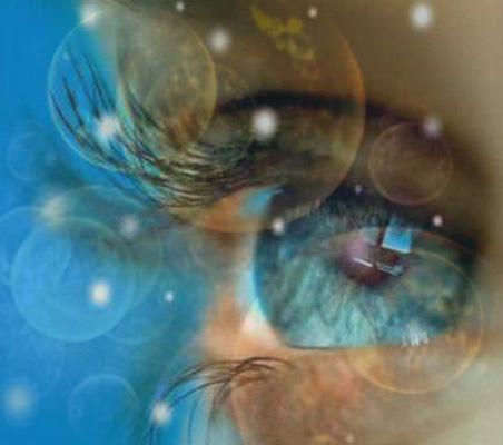 """Eine Übung dazu ist das """"Mitten"""", die schnelle Bewegung des Blicks von den acht Hauptrichtungen zur Mitte unseres Gesichtsfeldes."""