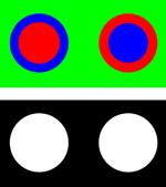 Mouches volantes-Tafeln in zwei Varianten von Michael, 2015.
