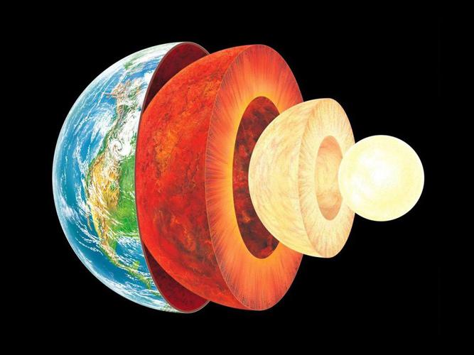 Der Schalenaufbau der Erde.