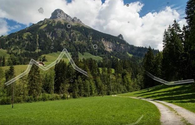 Die idyllische Emmentaler Landschaft, die Leuchtstruktur im Blick, dazu beruhigende Klänge – das ist das Mouches Volantes-Video von Shane.