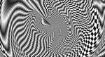 Künstlerische Darstellung eines farblosen Phosphens, verursacht durch mechanische Stimualtion der Netzhaut.